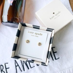 Kate Spade Gold Halo Stud Earrings